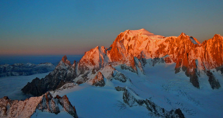 Mont Blanc, ko se rojeva nov dan ...
