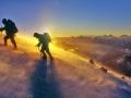 na pobočju Mt. Elbrusa